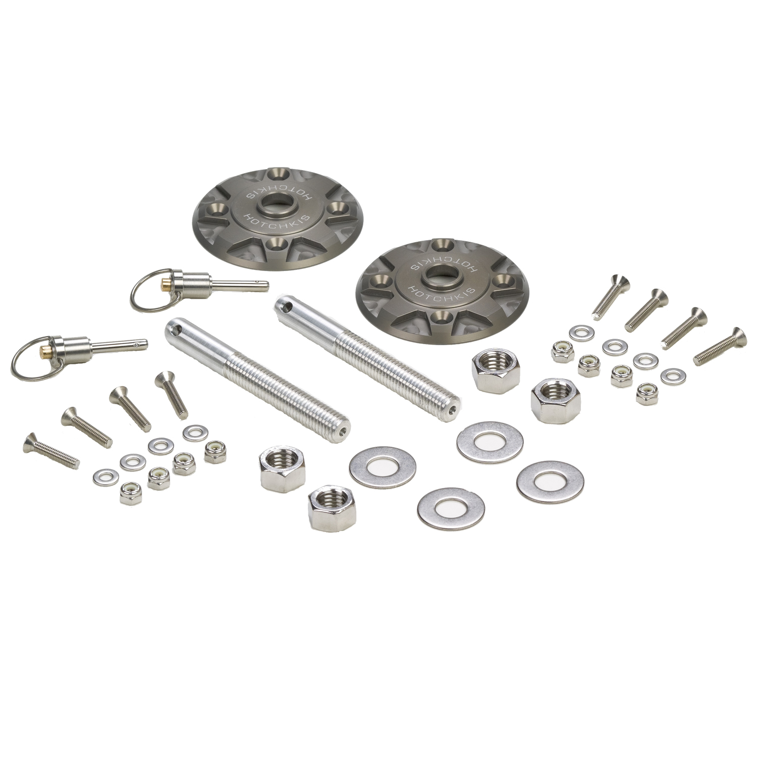 Quick Release Billet Hood Pin Kit from Hotchkis Sport Suspension